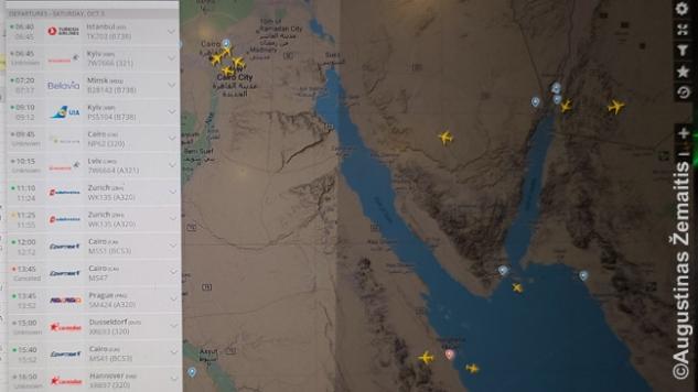 Flightradar tinklapyje tikrinu, kurie skrydžiai realiai vyksta