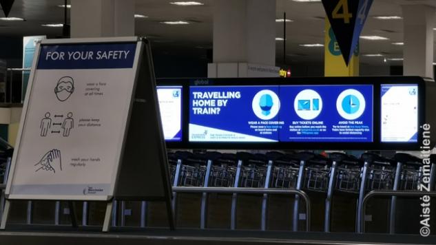 Perspėjimų perspėjimai Mančesterio oro uoste