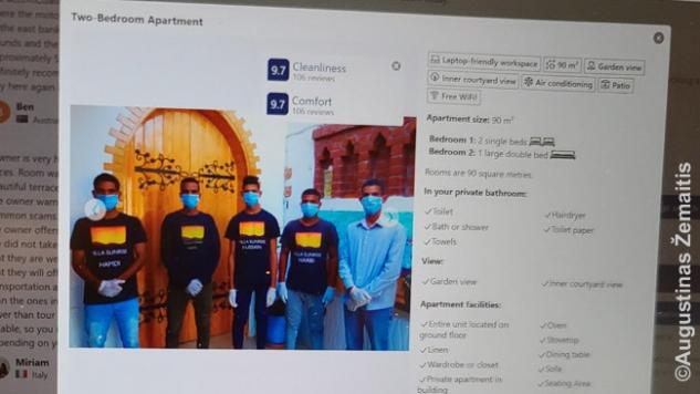 Hurghadoje ir pakrantėje užsakant viešbutį dar galima sutikti tokių reklamų internete - egiptiečiai galvoja, kad užsieniečiams tai svarbu ir, kaip įpratę, prisitaiko. Paskui jau nebe