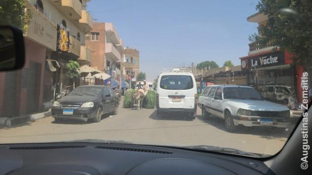 Tragiškas ir sunkiai prognozuojamas Egipto eismas. Ka rytą tekdavo rinktis: ar stumtis pro prekijus į keltą, ar 25 km važiuoti keliais