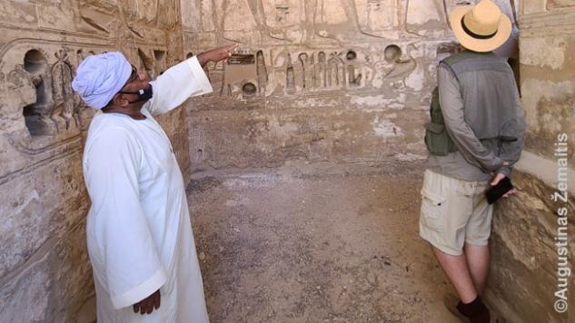 Prižiūrėtojas Medinet Habu šventykloje