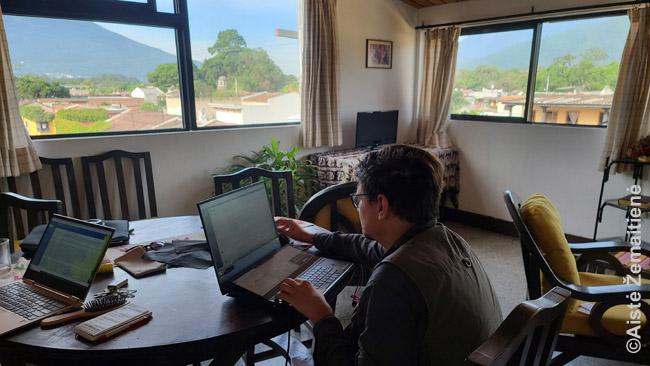 Dirbu per atstumą Gvatemaloje
