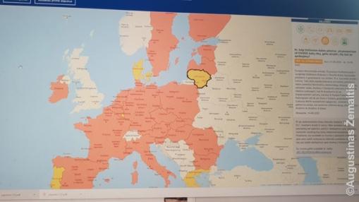 Naujas Reopen EU tinklapis rodo apribojimus ES viduje. Iš lėto šalys spalvinasi iš raudonos į geltoną ar žalią spalvas