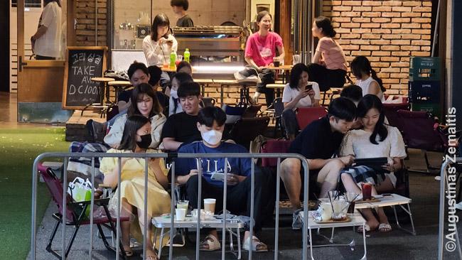 Hongdae studentų rajone Seule