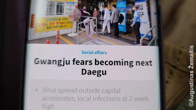 Antraštė Kvangdžu bijo tapti naujuoju Tegu
