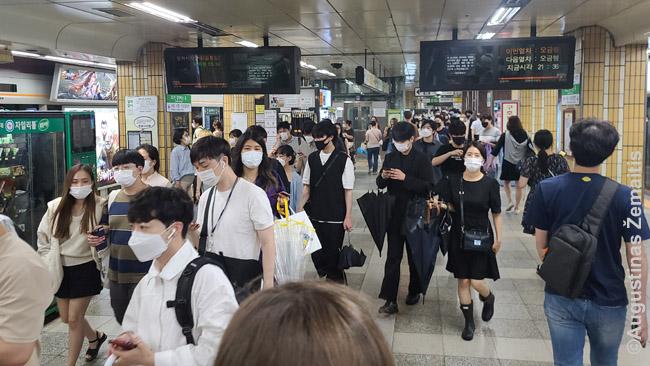 Seulo metro - kaukės čia niekada neišnyko