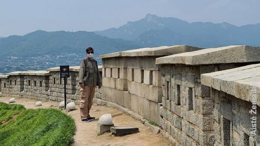 Žygis 19 km ilgio Seulo miesto siena, supančią visą centrą