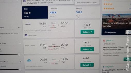 Finnair bilietas, kurį įsigijau