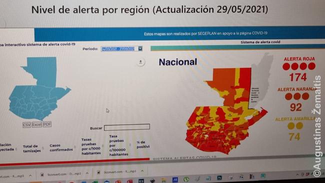 Gvatemala suskirstyta į pavojaus zonas. Kad gerai prisimičiau kur kas - ir galėčiau vertinti dėl lankytinų vietų, valgymo - užsidedu šį planą ant pagrindinio mobiliojo telefono ekrano