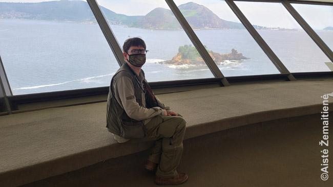 Niterojaus meno muziejuje su vaizdu į Rio de Žaneirą. Paveikslų čia labai mažai, bet kam, kai tokie vaizdai