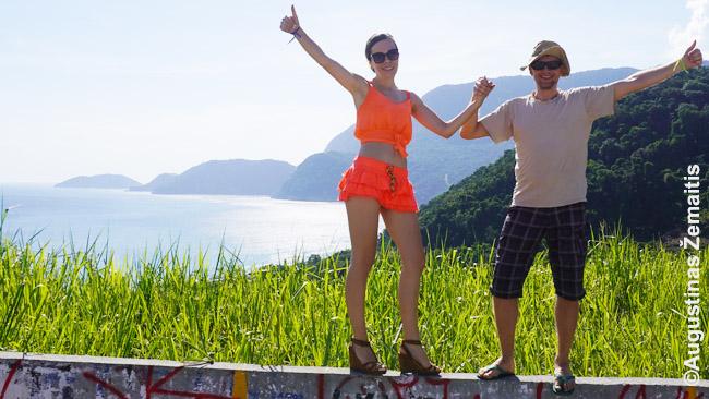 Aistė ir Pranas žaliojoje Rio de Žaneiro pakrantėje