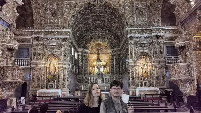 Auksinėje Salvadoro bažnyčioje