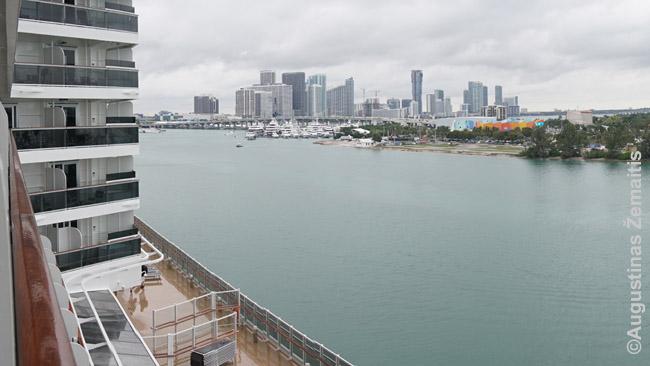 Majamis žvelgiant iš Kajutės balkono