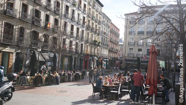 Gatvės kavinės Madride