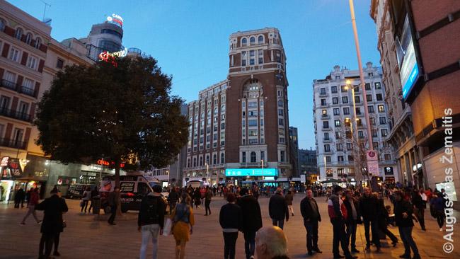 Madrido Gran Via pastatai