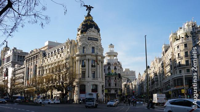 Madrido Gran Via, XIX a. pabaigos ir XX a. pradžios įspūdingi rajonai