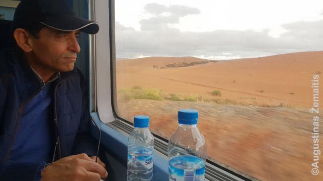 Traukiniu į Marakešą. net neradus geros skrydžio akcijos į patį Marakešą, galima skristi, tarkime, į Fesą ar Agadirą ir atvažiuoti iš ten