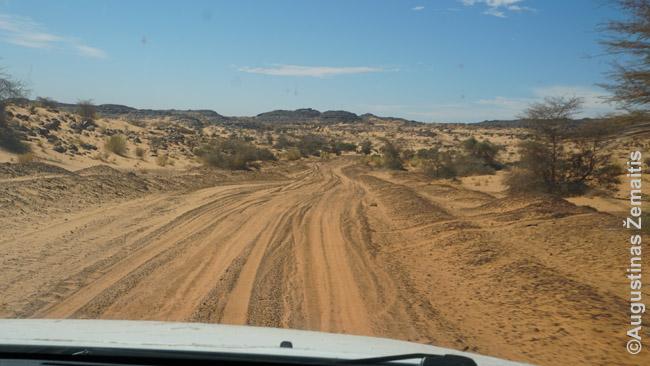 Mauritanijos dykumų kelias