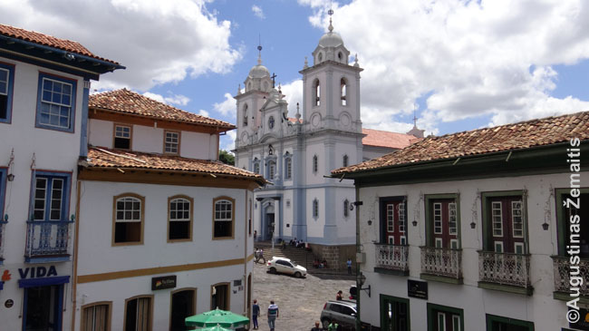 Diamantinos miestelis Brazilijos Minas Žeraiso valstijoje
