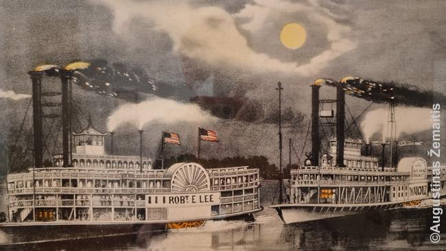 Garlaiviai Misisipėje - viena romantizuotų JAV Pietų istorijos detalių. Dabar jie negabena medvilnės ar keleivių, tačiau turistams jais vyksta ekskursijos. Viena čia pavadintas pilietinio karo generolo Roberto I. Ly garbei.