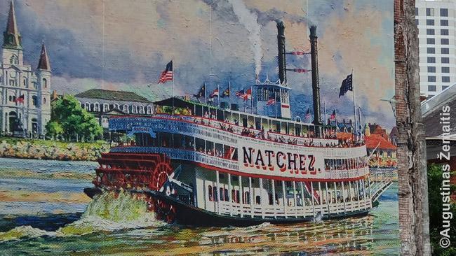 Garlaivis - vienas Naujojo Orleano simbolių. Kadaise jie gabeno krovinius ir keleivius, šiandien - turistus kasdienėse ekskursijose