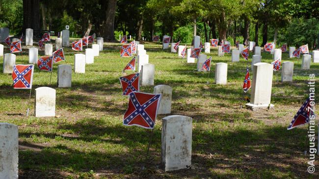 Konfederatų karių kapai Džefersono Deiviso bibliotekos prieigose