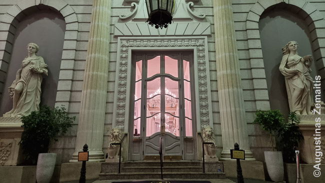 Viešbučio fasadas Naujojo Orleano centre