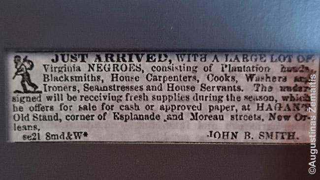 Vergų pardavimo reklamos - populiarūs muziejų eksponatai
