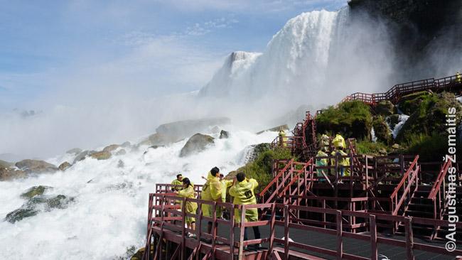 Ant šių Cave of the Winds metalinių takelių vyko vienas įstabiausių filmo 'Niagara' susidūrimų tarp 'Gėrio' ir 'Blogio'(?)