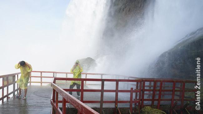 Uragano denis Vėjų oloje (Cave of the Winds) - vieta, kur Niagaros krioklys tave aptaško labiausiai tarp visų krioklio pramogų. Čia faktiškai gauni krioklio dušą ir vėją.