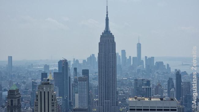 Vaizdas į Empire State Building nuo Rokfelerio centro