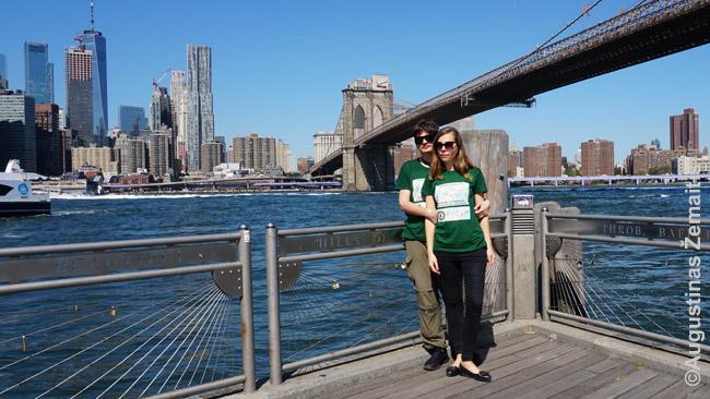 Mes Niujorko Bruklino tilto parke