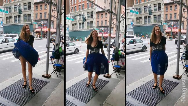 Senasis Niujorko metro važiuoja negiliai ir per ventiliacijos groteles į viršų kartais papučia oras, keliantis 'pavojų' moterims su sijonais. Tai amžiams išgarsino Merlina Monro.