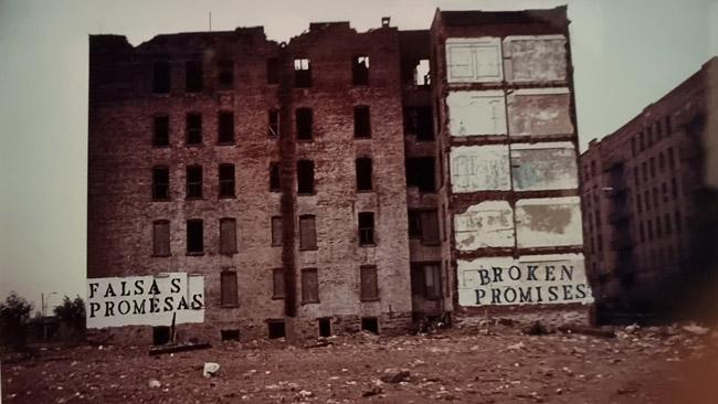 Pietinio Bronkso vaizdas iš Niujorko 'juodųjų laikų'. Niujorko miesto muziejaus nuotrauka