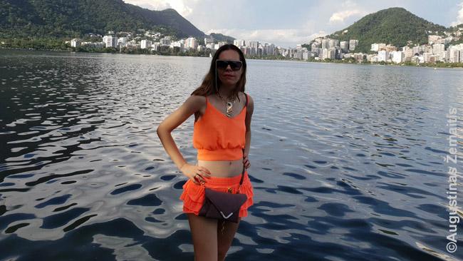 Mano žmona rankinuką nesaugiose šalyse (nuotraukoje - Brazilija) visuomet nešiojasi priekyje