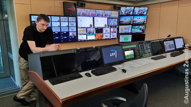 LRT aparatinė, kur sudaromas galutinis transliacijos vaizdas