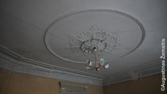 Išlikęs dekoras Montvilos kolonijos pastate
