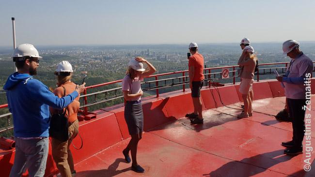 Open House ekskursija ant Vilniaus TV bokšto stogo