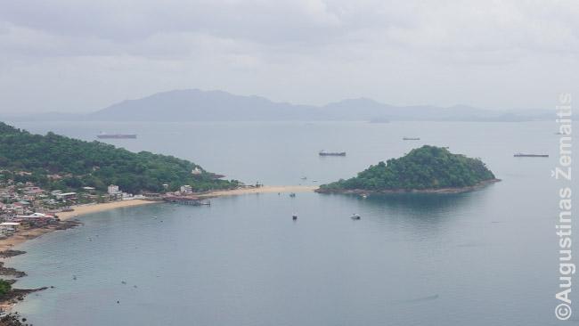 Tabogos salos vaizdas nuo Cerro de La Cruz kalno