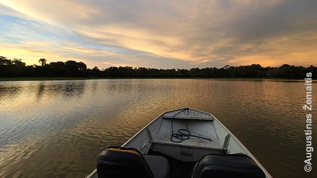Klasikinis Pantanalio vaizdas - sezoniniai ežerai. Sausu metų laiku daug kur nenuplauksi, drėgnu - nenuvažiuosi.