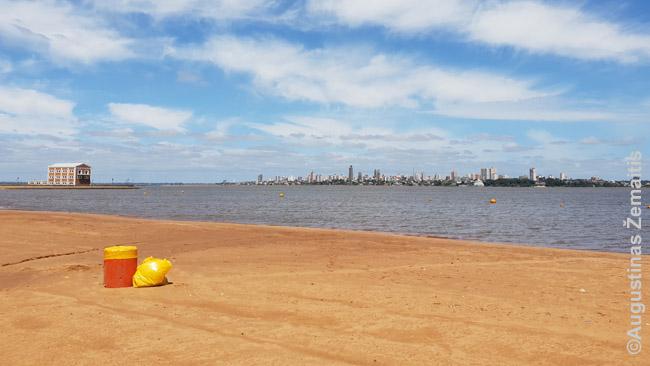 Enkarnasjono paupio paplūdimys. Anapus - Argentina