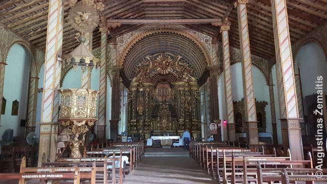 Jaguarono Jėzuitų bažnyčios medinis vidus