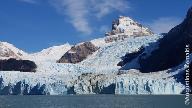 Lūžinėjantis Patagonijos Spegacinio ledyno 'frontas'