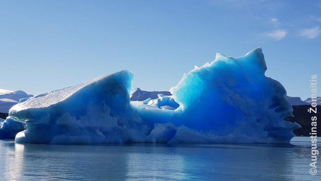 Nuo Upsalos ledyno atskilęs ledkalnis, aukščio sulig mūsų laivu