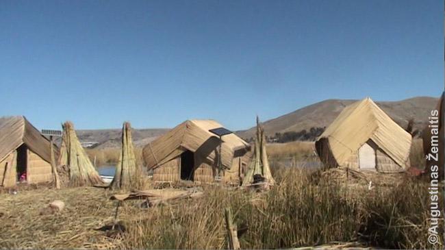 Pinta indėnų urų sala Titikakos ežere