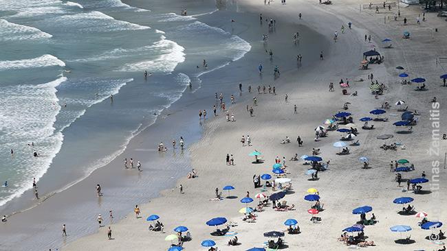 Balneario Camboriu paplūdimys. Čia pabuvome - daugiau Brazilijoje tam nebuvo laiko