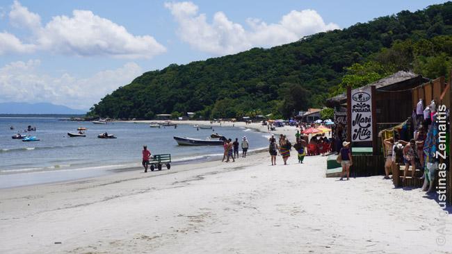 Ilha do Mel pakrantėje (Enkantadas)
