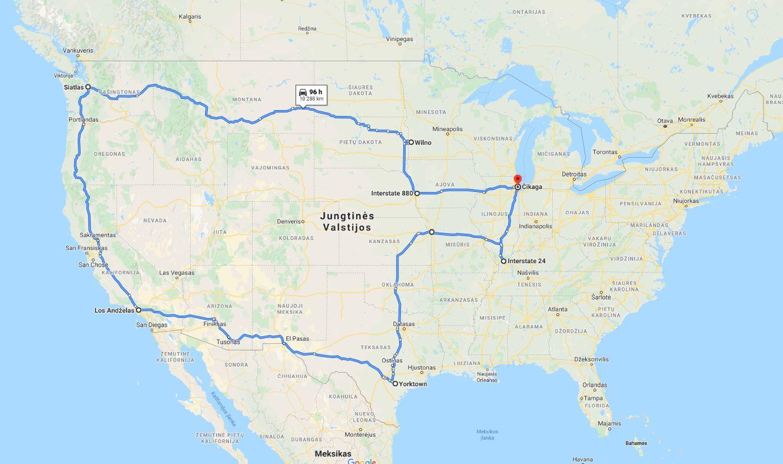 Potencialus Tikslas - Amerika 2020 maršrutas