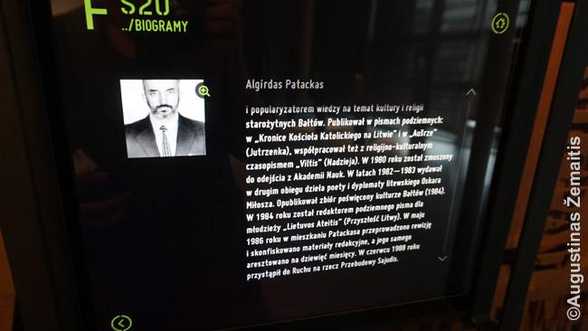 Solidarumo muziejuje kiekvienai Rytų Europos šaliai skirta po kompiuterinį stendą. Lietuvos stende - ir žymiausių partizanų, Sąjūdžio veikėjų biografijos, sausio 13 d. vaizdai