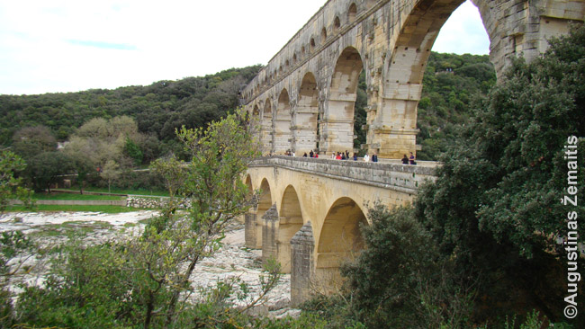 Romėnų akvedukas (Pont du Gard, Prancūzija)